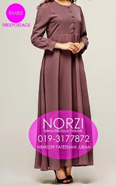 NBH0259 FATEENAH JUBAH (NURSING FRIENDLY)