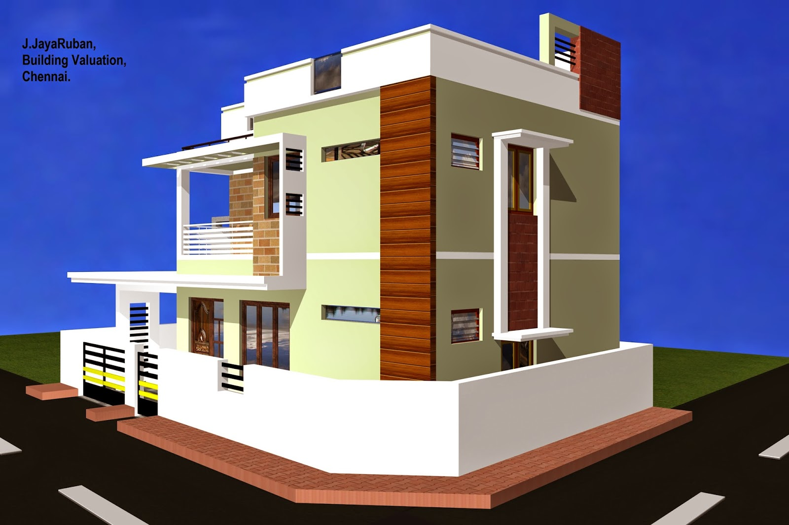 Pin building d elevation view on pinterest for Civil engineering home design