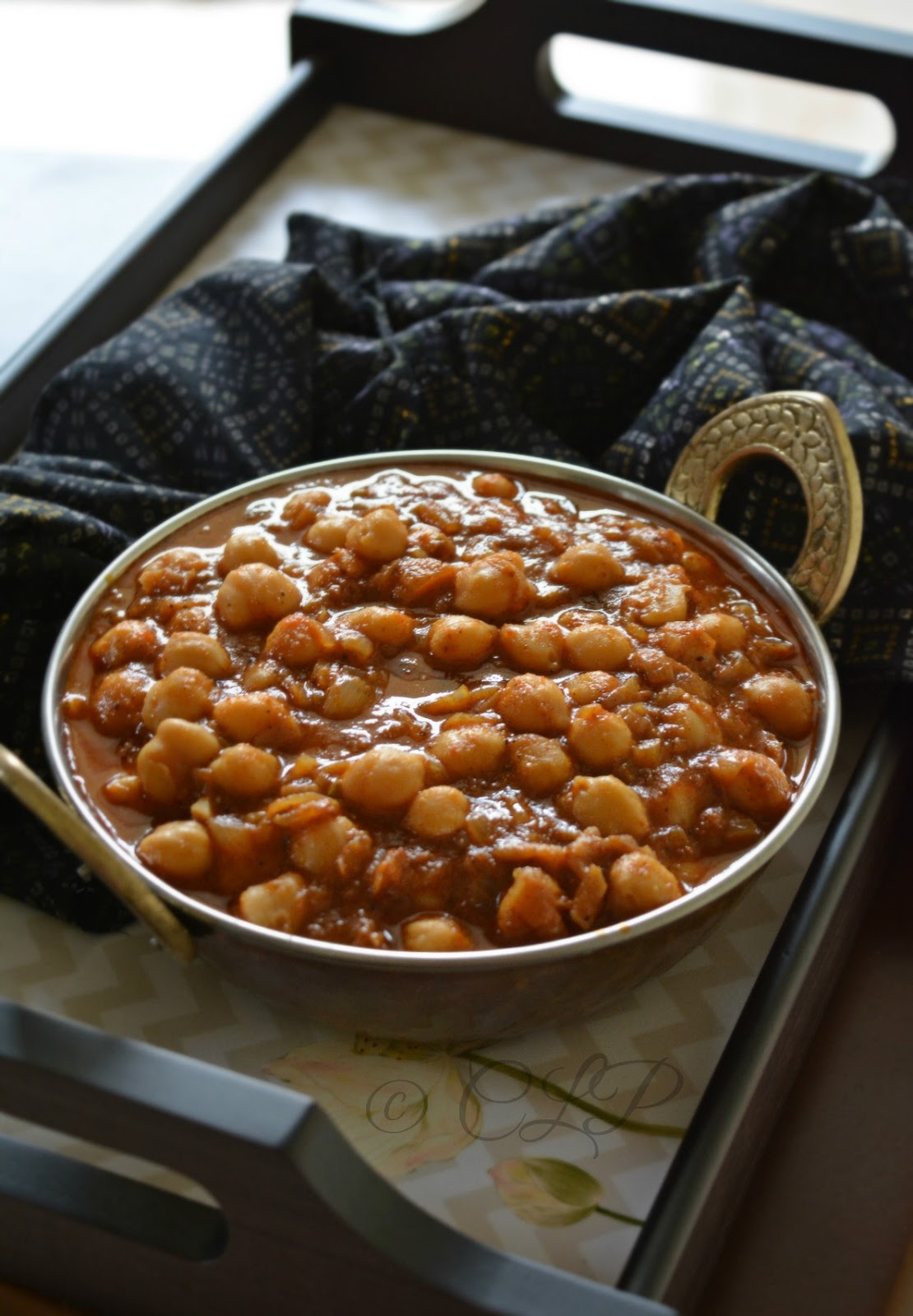 Chole Masala side dish for bathure