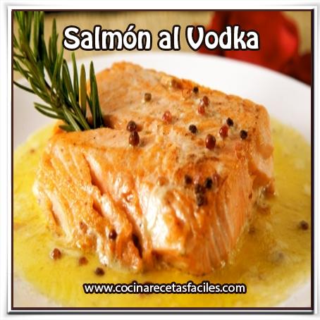 Recetas de Pescados y mariscos,  receta de salmón al vodka