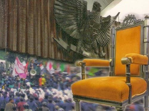ilustrasi kursi kekuasaan