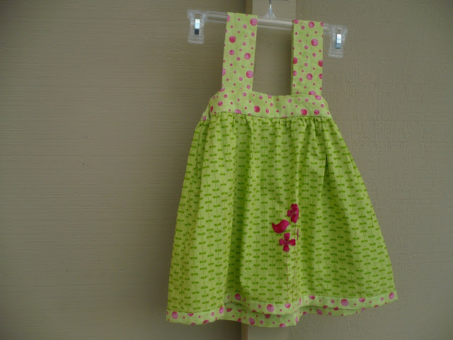 jumper dress with appliques