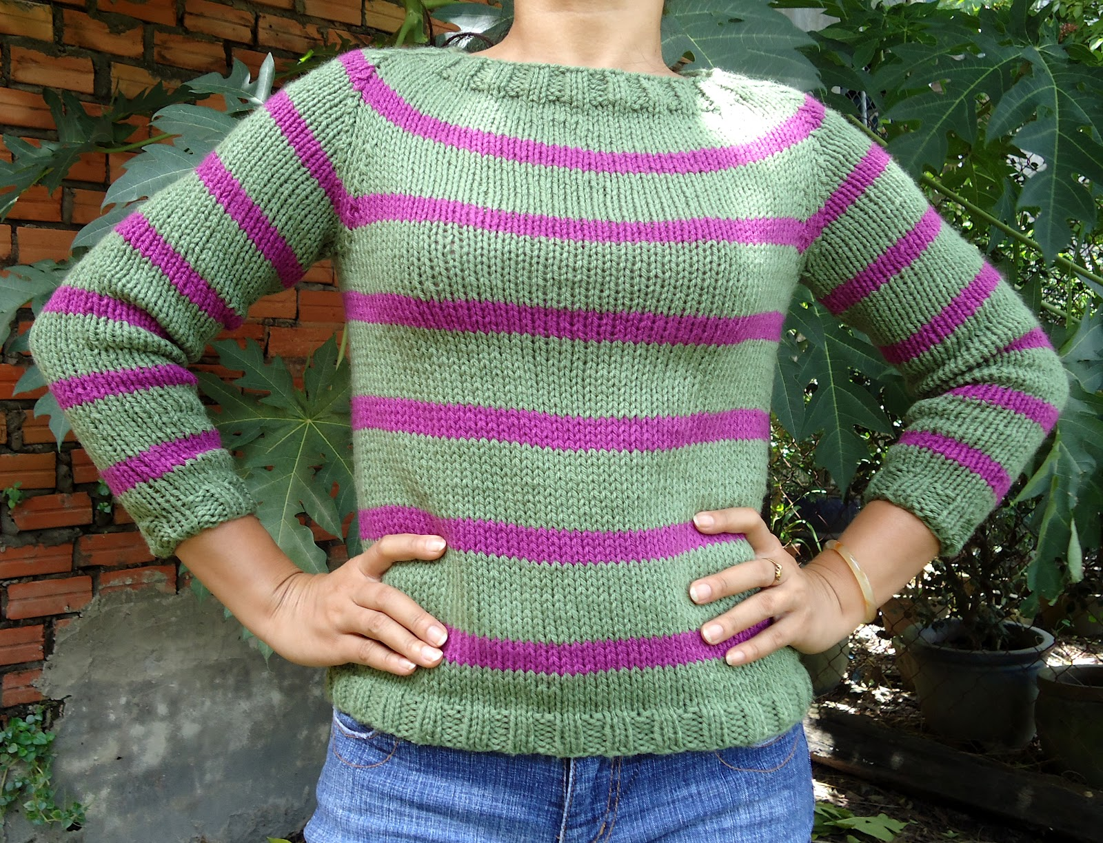 Stitch Knitted Sweater Together : Stitch of Love: ~ My first sweater!