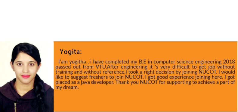 Yogita got placed as Software Developer