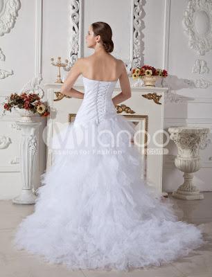 Blanc de balayage sweetheart taffeta robe de mariage Net