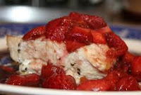 Stuffed Chicken With Fresh Strawberries
