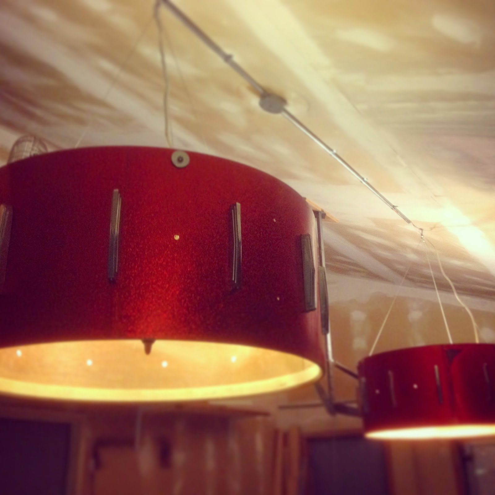 Vintage bass drum chandeliers the wolven house project vintage bass drum chandeliers aloadofball Gallery