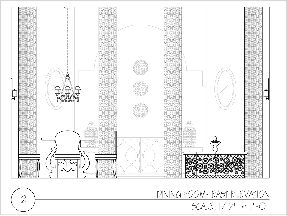 Personified interiors morocco project for Dining room elevation