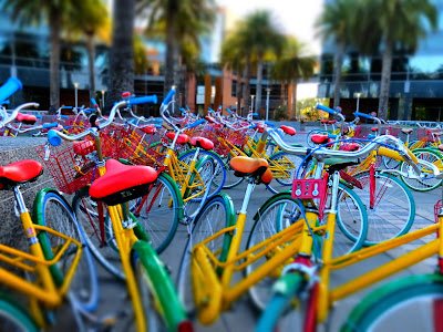 The Famous Google GBikes in Front of Building 1900/2000