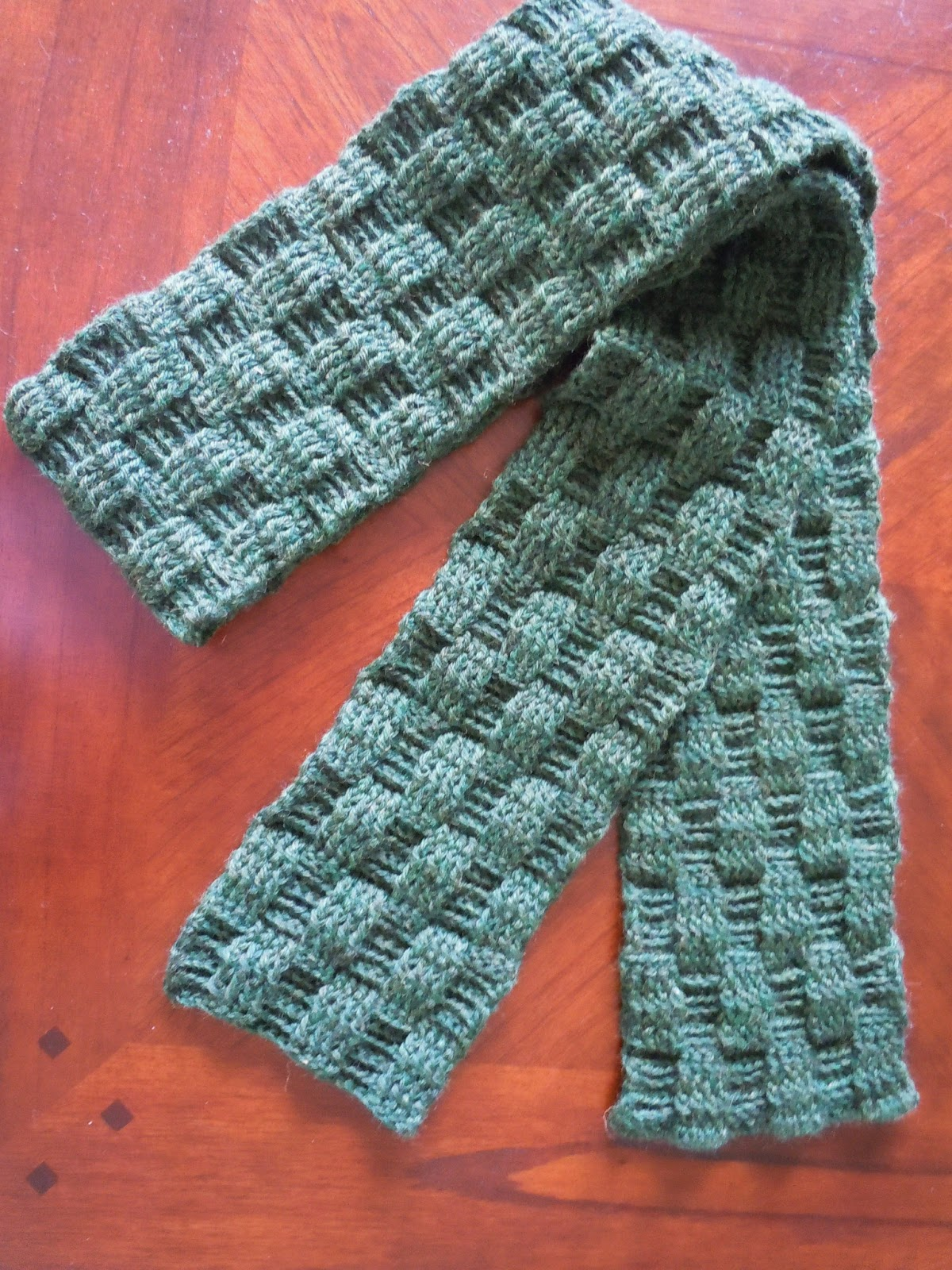 Free Knitting Pattern For Basket Weave Scarf : Illuminate Crochet: Mens Crochet and Basketweave Scarf