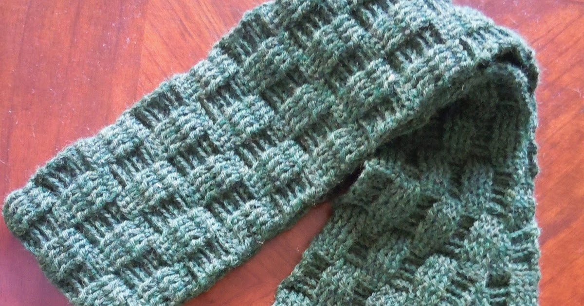 Illuminate Crochet: Men\'s Crochet and Basketweave Scarf