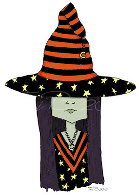 Carling The Little Witch, Colored Version 2 by Tori Beveridge.