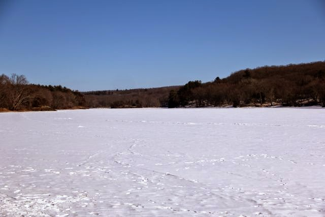 snow covered, ice covered St. Croix River