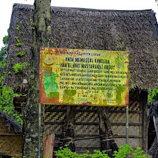 papan peringatan suku baduy