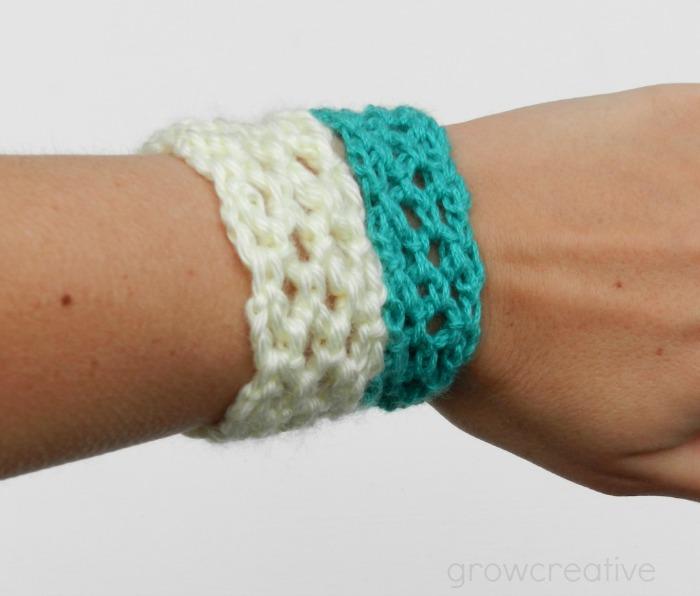 Easy Crochet Lacey Cuff
