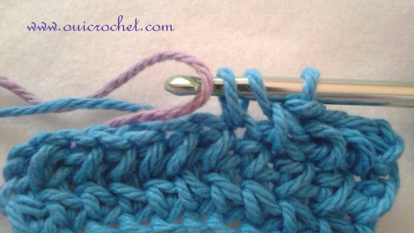 #OuiCrochet, Crochet Skills Tutorial, How to Change Color in Crochet, Crochet Tutorial, How to Change Color in Single Crochet, How to Change Color in Half Double Crochet, How to Change Color in Double Crochet,
