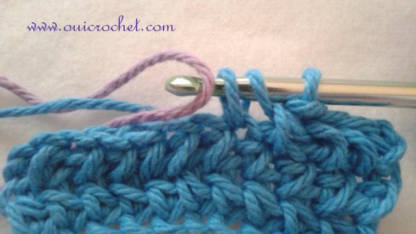 #OuiCrochet, Crochet Skills Tutorial, How to Change Color in Crochet, Crochet Tutorial, How to Change Color in Single Crochet, How to Change Color in Half Double Crochet, How to Change Color in Double Crochet,