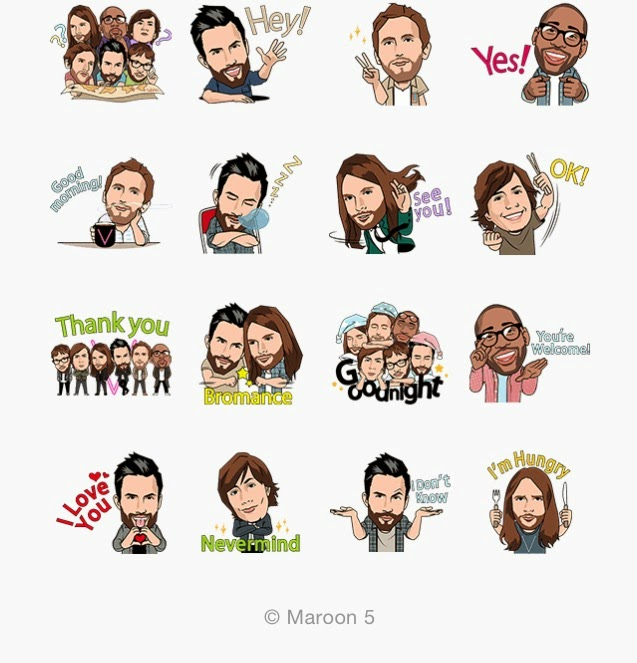 Maroon 5 sticker