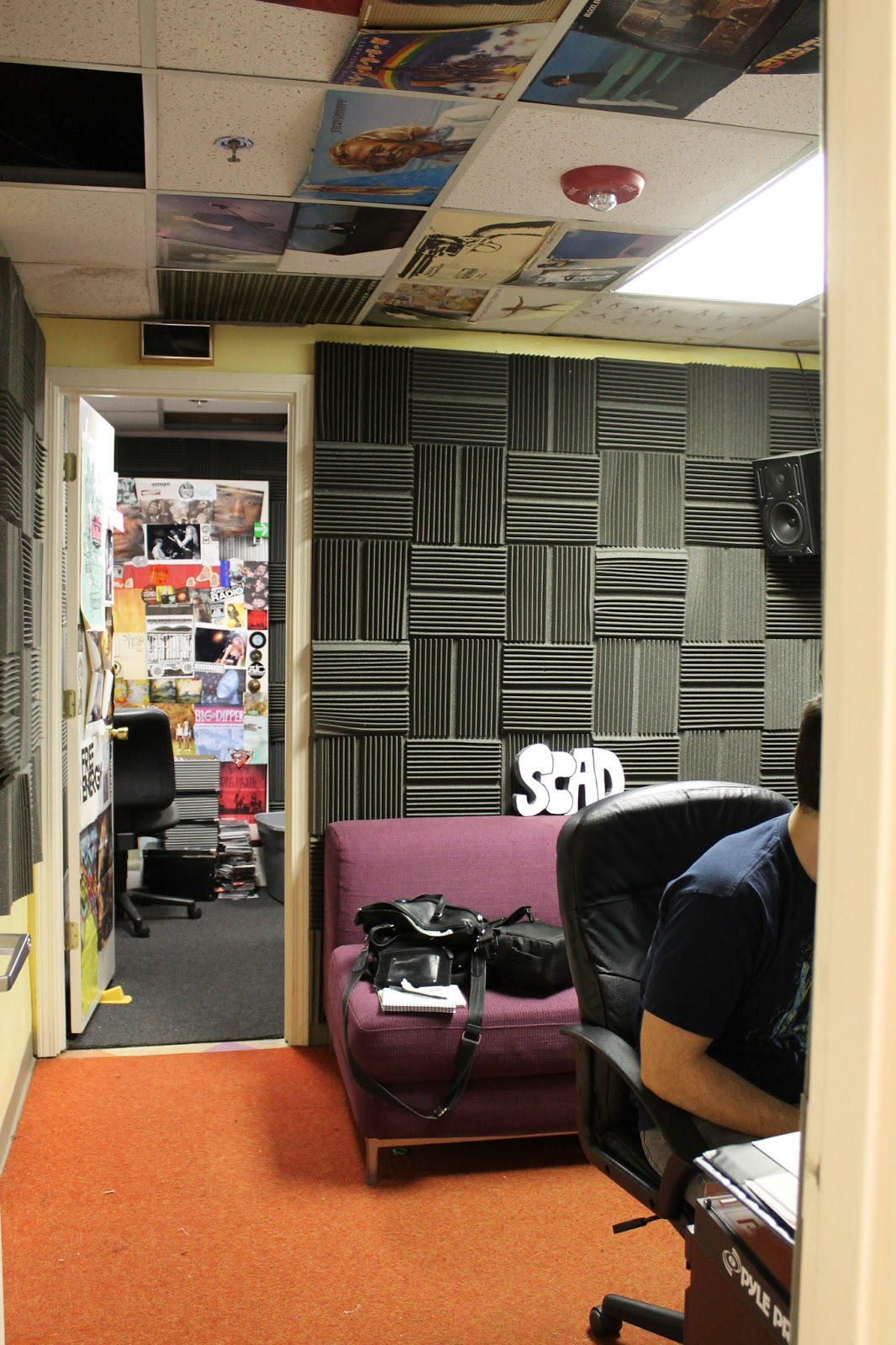 View From SCAD Atlanta Radio Studio Into Production Room Photo J Waits
