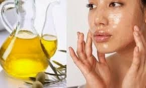 massage a small amount of olive oil on your face
