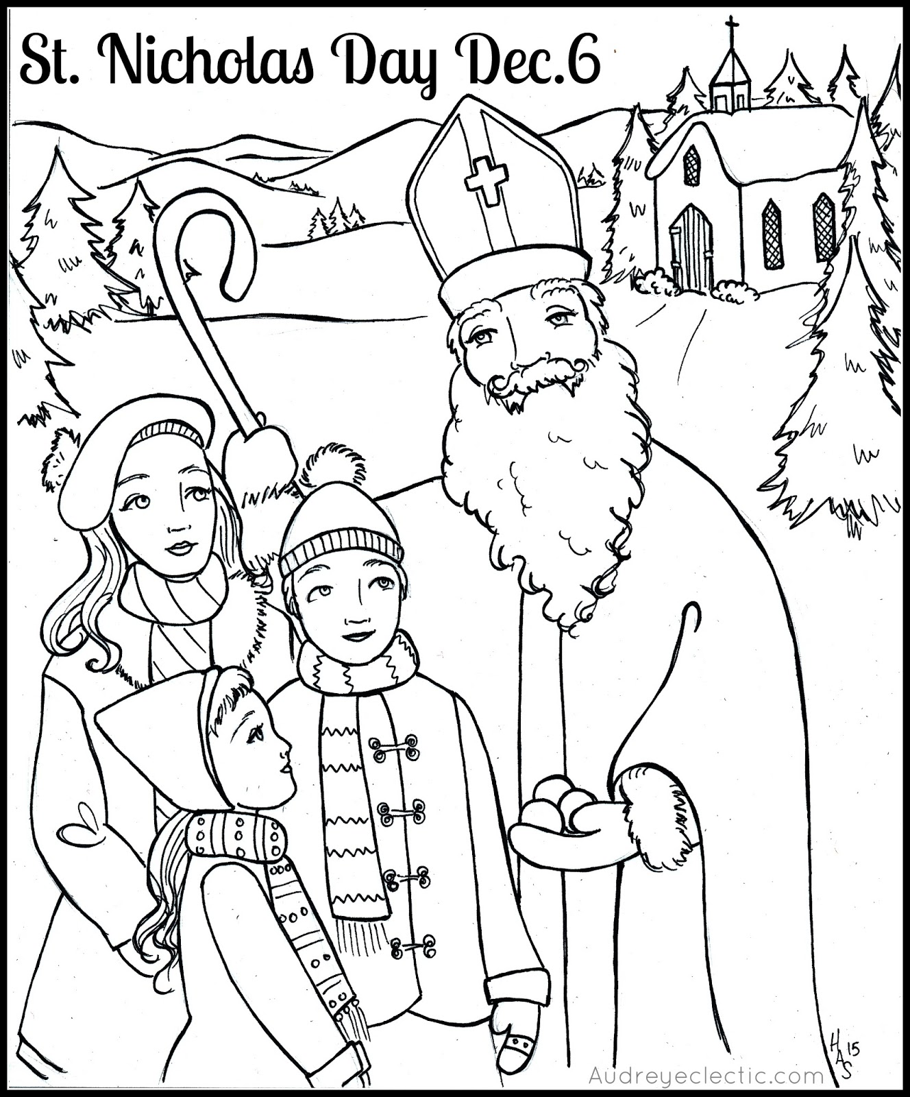 FREE Printable St Nicholas Day Sleightholm Folk Art