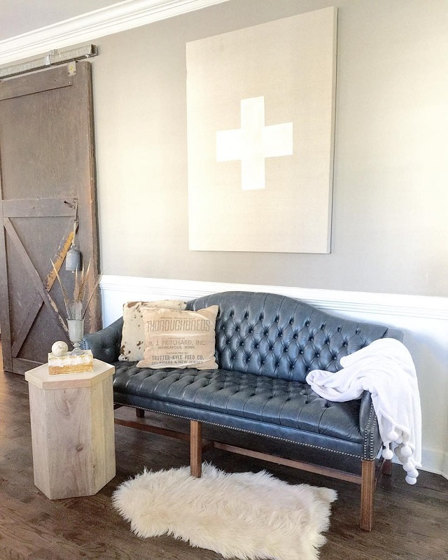 #thriftscorethursday Week 87 | Instagram user: oliveandford shows off this Tufted Sofa