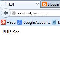 php hello world script
