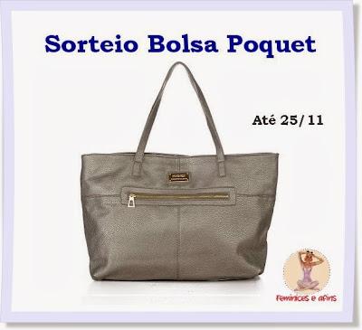 Sorteio Bolsa Poquet