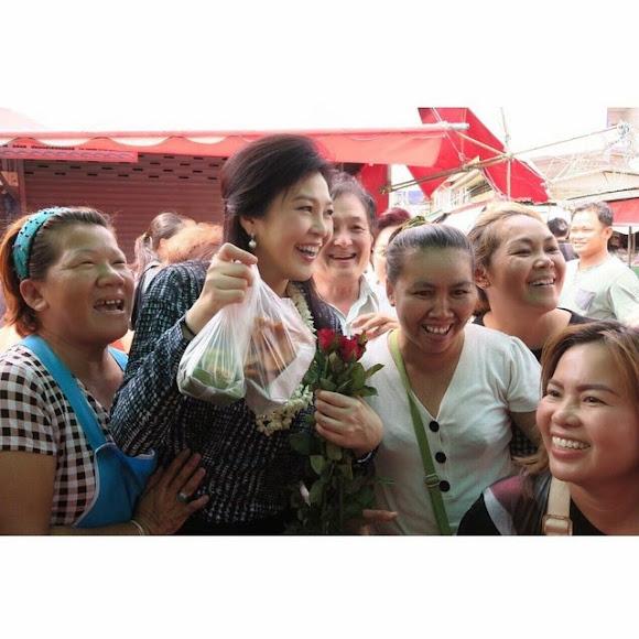 กลับมาถึงกรุงเทพฯแล้วนะคะ... _ Yingluck Shinawatra