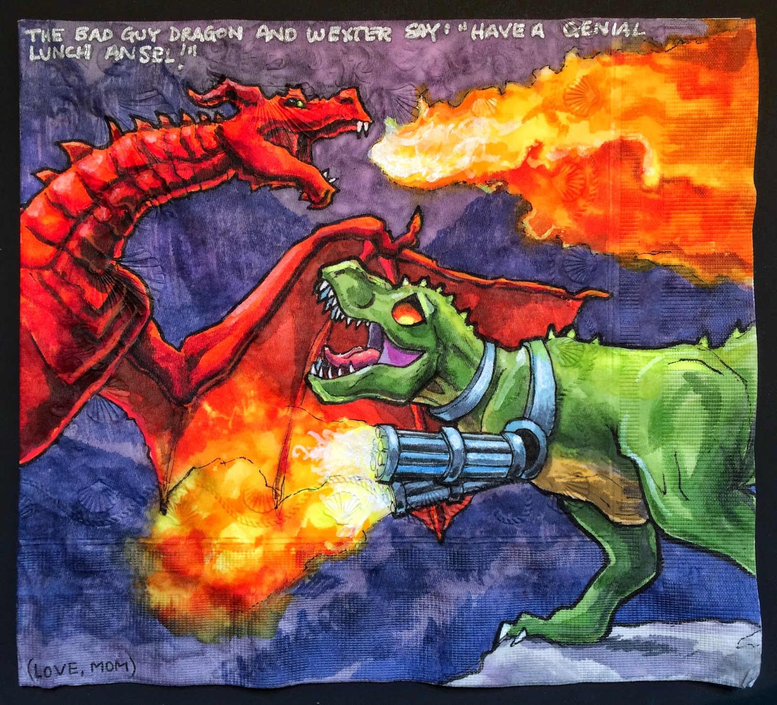 Dinosaur Vs Dragon By Dinossword