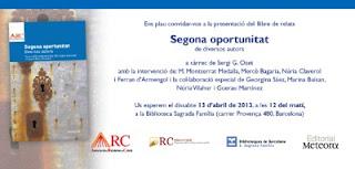 Invitació presentació 'Segona oportunitat'