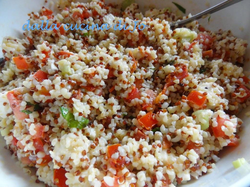 taboulé di boulgur e quinoa