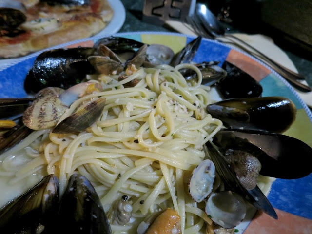 Marbella Spain Summer Holiday Italian Seafood Linguine Pasta