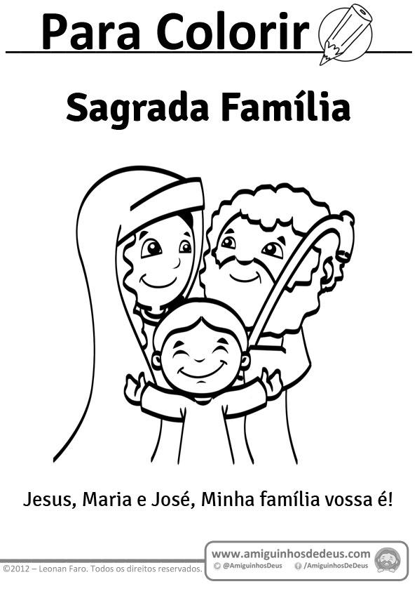 sagrada família desenho para colorir pintar