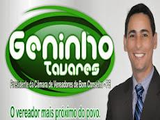 Vereador Geninho Tavares - Presidente da Câmara de Bom Conselho.