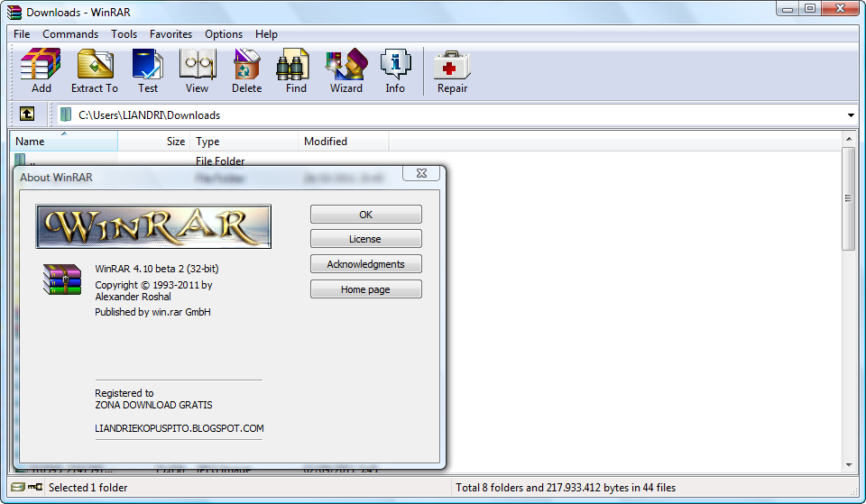 Winrar 540 Free Download With License Key Crack
