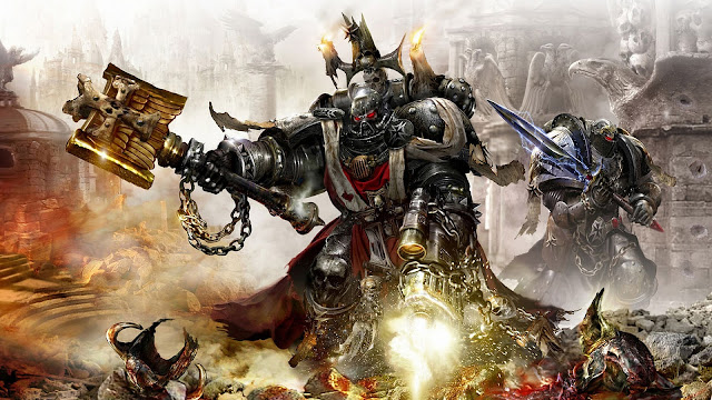 Warhammer Epic Fantasy Sword Blood Armor Weapon Chain Battlefield hd wallpaper desktop pc wallpaper a49