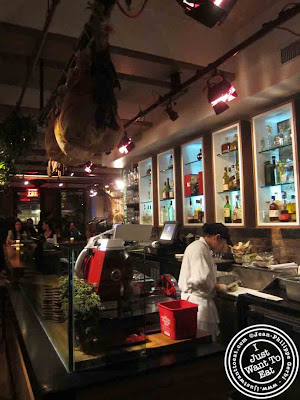 Image of meat station at Courgette next to Dream Hotel Midtown in NYC, New York