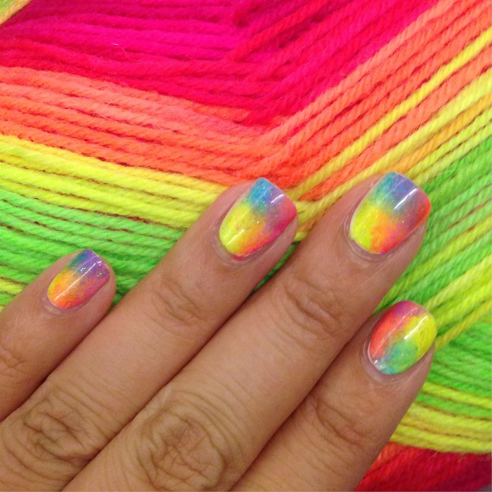 Ногти цвета радуги фото