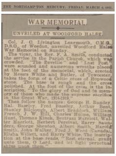 The Northampton Mercury Friday March 4th 1921.
