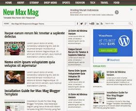 Template Blog SEO dan Responsif New Max Mag