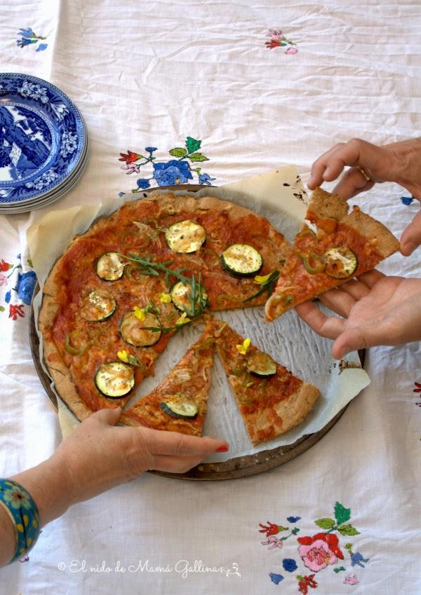 pizza de centeno