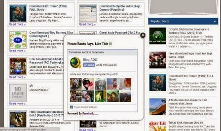 Cara Membuat Like Box Facebook di Blog