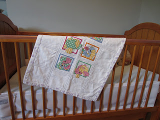 cross-stitch teddy bear baby afghan