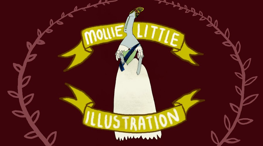 Mollie Little's Various Doodles and Illustrations.
