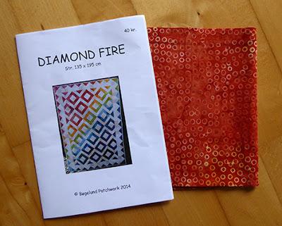 Flot brændt orange bali stof til en stor quilt