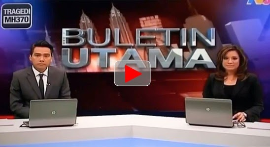 Penyiar TV3 menangis saat baca surat istri awak MH370