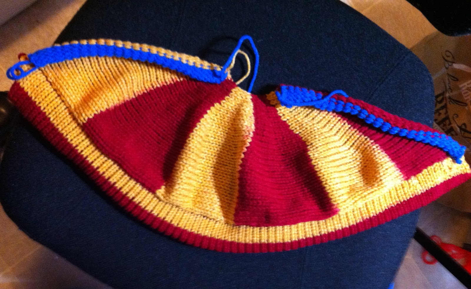 Machine Knitting Fun: 49er Silly Hats On The Bulky