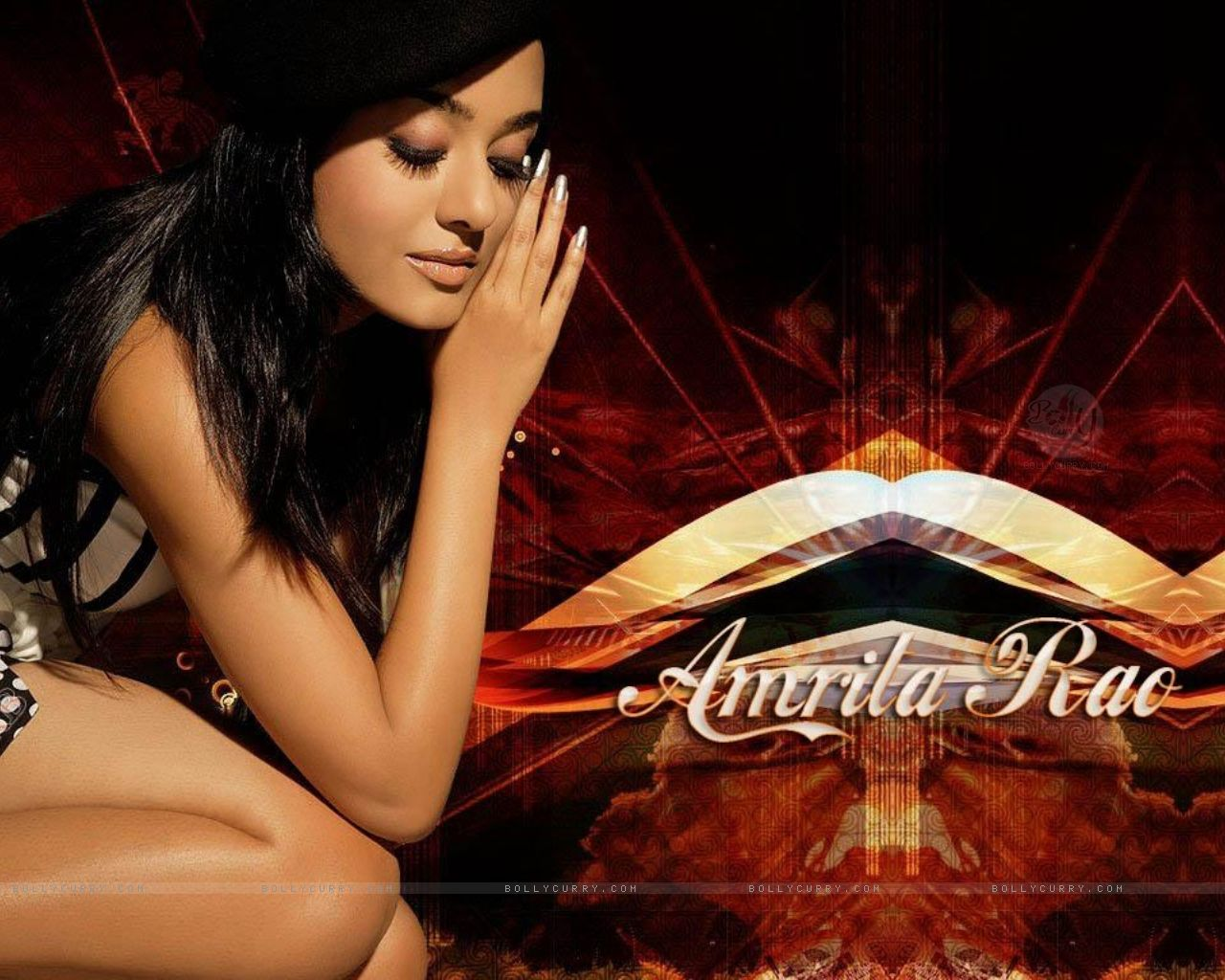 south actress wallpapers: amrita rao - pretty and hot bollywood actress