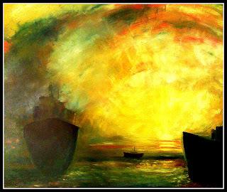 Alvorecer no mar - 100 x 81